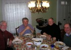 My dear friends Chuck, Dzoka, Vadja and Mirko, in Belmont, MA 2008